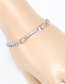 Fashion Rose Gold Letter Pattern Decorated Bracelet
