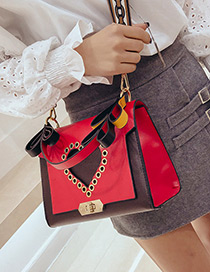 Fashion Red Heart Shape Decorated Bag