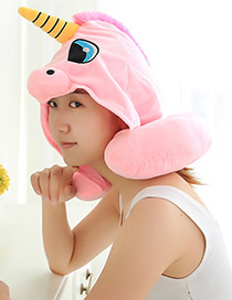 Lovely Pink Unicorn Shape Decorated Pillow