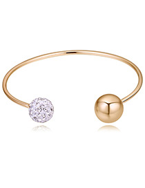 Personality Gold Color Balls Shape Design Opening Bracelet