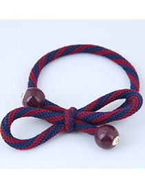 Sweet Red+dark Blue Bowknot Shape Design Hair Band