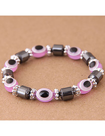 Fashion Purple Eye Shape Decorated Bracelet