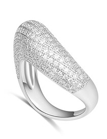 Fashion Silver Color Nest Shape Decorated Ring