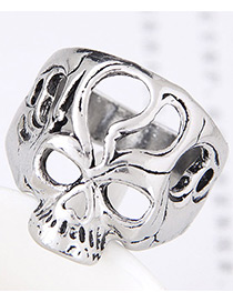 Vintage Silver Color Hollow Out Design Ring