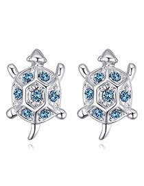 Fashion Blue Tortoise Shape Decorated Earrings