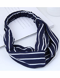 Fashion Navy Stripe Pattern Decorated Headband