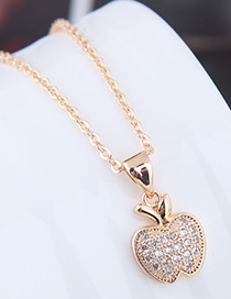 Fashion Gold Color Apple Shape Decorated Necklace