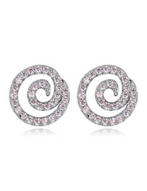 Fashion Silver Color Vortex Shape Decorated Simple Earrings