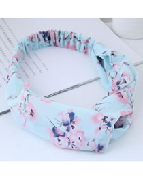 Fashion Blue+pink Flower Pattern Decorated Hair Band