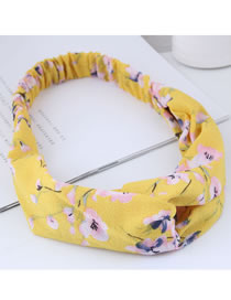Fashion Yellow+pink Flower Pattern Decorated Hair Band