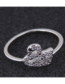 Fashion Silver Color Swan Shape Design Ring