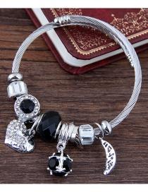 Fashion Black Heart Shape Decorated Bracelet