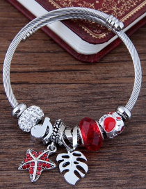Fashion Red Star Shape Decorated Bracelet