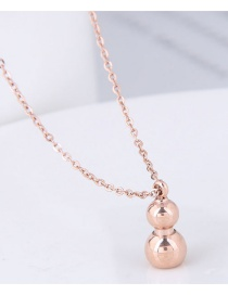 Fashion Rose Gold Gourd Shape Design Necklace