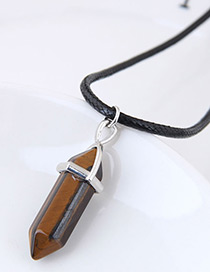 fashion Brown Bullet Shape Decorated Necklace