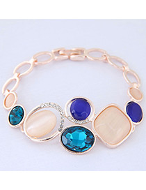 Simple Multi-color Geometry Shape Decorated Bracelet
