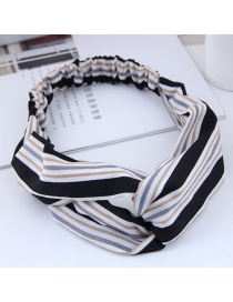 Fashion Black Stripe Patterm Decorated Hairband
