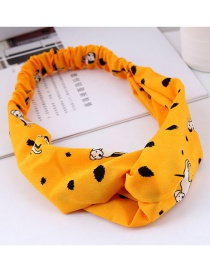 Fashion Yellow Dogs Pattern Decorated Hairband