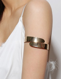 Fashion Gold Color Pure Color Decorated Arm Bracelet