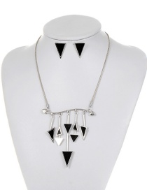 Fashion Black Triangle Shape Decorated Jewelry Set