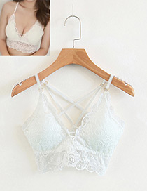 Fashion White Pure Color Decorated Strapless Underwear