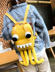 Fashion Yellow Octopus Shape Decorated Backpack(l)