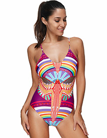 Sexy Multi-color Round Neckline Design Swimwear
