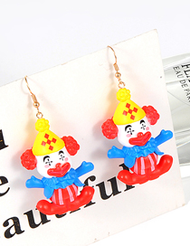 Lovely Red Doll Shape Decorated Earrings