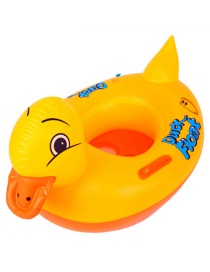 Fashion Yellow Dark Shape Decorated Chilldren Swimming Ring(with Handle)