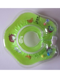 Fashion Green Pure Color Decorated Swimming Ring