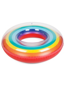 Fashion Multi-color Rainbow Pattern Decorated Swimming Ring(200g)