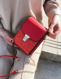 Fashion Red Star Shape Pattern Decorated Bag