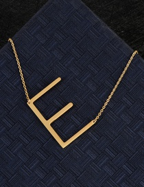 Fashion Gold Color E Letter Shape Decorated Necklace