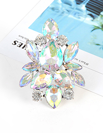 Fashion Multi-color Waterdrop Shape Design Round Ring