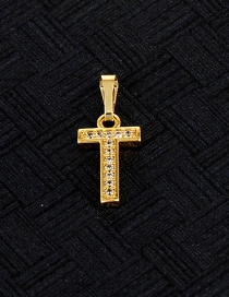Fashion Gold Color T Letter Shape Design Pendant