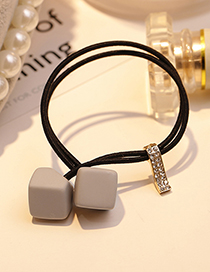 Fashion Gray Square Shape Decorated Hair Band