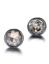 Fashion Gray Round Shape Decorated Earrings
