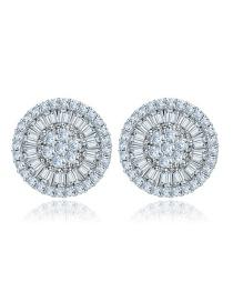 Fashion White Round Shape Decorated Earrings