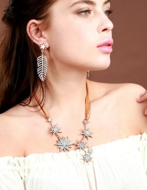 Fashion Coffee Star Shape Decorated Necklace