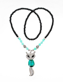 Fashion Black Fox Shape Decorated Necklace