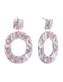 Fashion Gray Round Shape Design Hollow Out Earrings