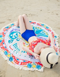 Fashion Red+white Spindrift Pattern Decorated Beach Towel