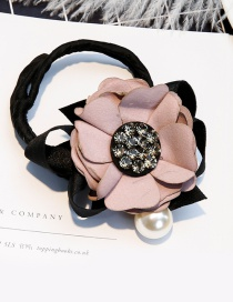 Lovely Pink Pearl&flower Decorated Hair Curler
