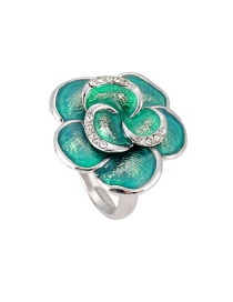 Fashion Green Flower Shape Design Ring