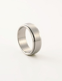 Fashion Silver Color Pure Color Decorated Simple Ring