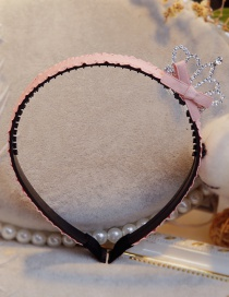 Lovely Pink Crown&bowknot Decorated Hair Hoop