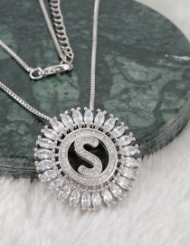 Fashion Silver Color S Letter Shape Decorated Necklace
