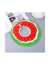 Fashion Green+red Watermelon Pattern Decorated Children's Bib