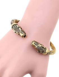 Fashion Gold Color Dragon Shape Design Opening Bracelet