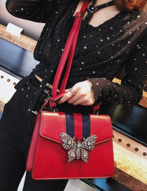 Fashion Red Butterfly Decorated Bag